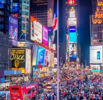 冬季抗漲特賣♯【跨年限定】紐約時代廣場瘋跨年~自由女神遊船、羅斯福島空中纜車、OUTLET8日