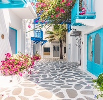 尋寶送110歐》經典藍白光影裡的希臘11日~愛琴海三島‧天空之城‧運河遊船‧中段搭機‧土航北進南出